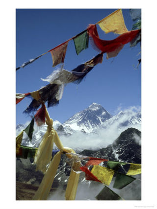 OSFRP-00000742-001~Mount-Everest-and-Prayer-Flags-Nepal-Posters